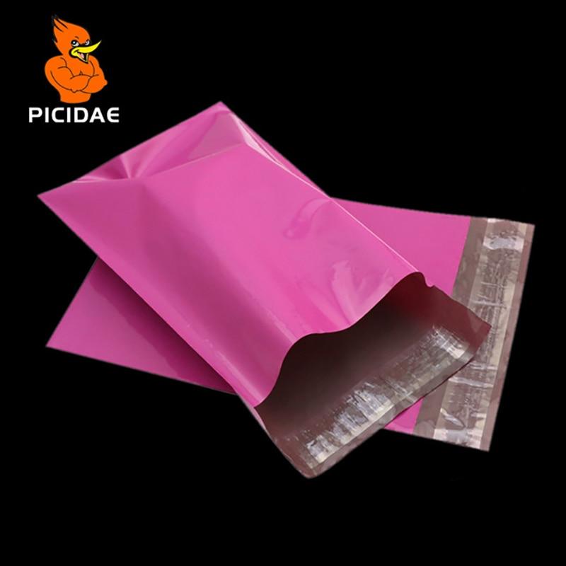 Poly Mailer Color Rosa Envolvente de correo Rosa Roja Bolsas - Organización y almacenamiento en la casa