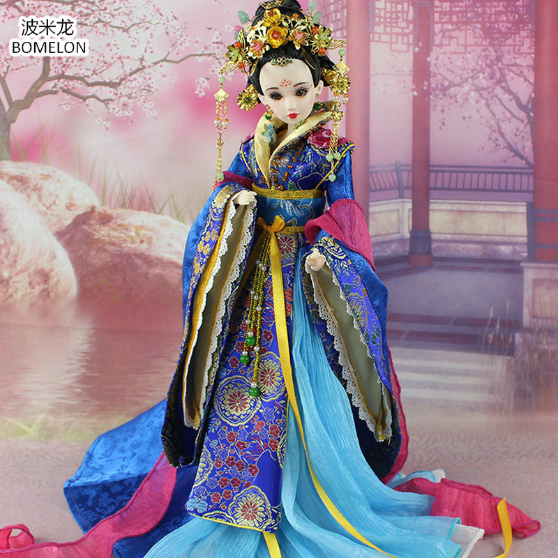 High-quality Hand-made Chinese Tang Imperial Concubine XIAO Beauty Doll 12 Jointed Bjd 1/6 Dolls Toys Girl Gifts Collection high end handmade chinese dolls ancient costume tang princess jin yang jointed doll articulated kids toys girls birthday gift