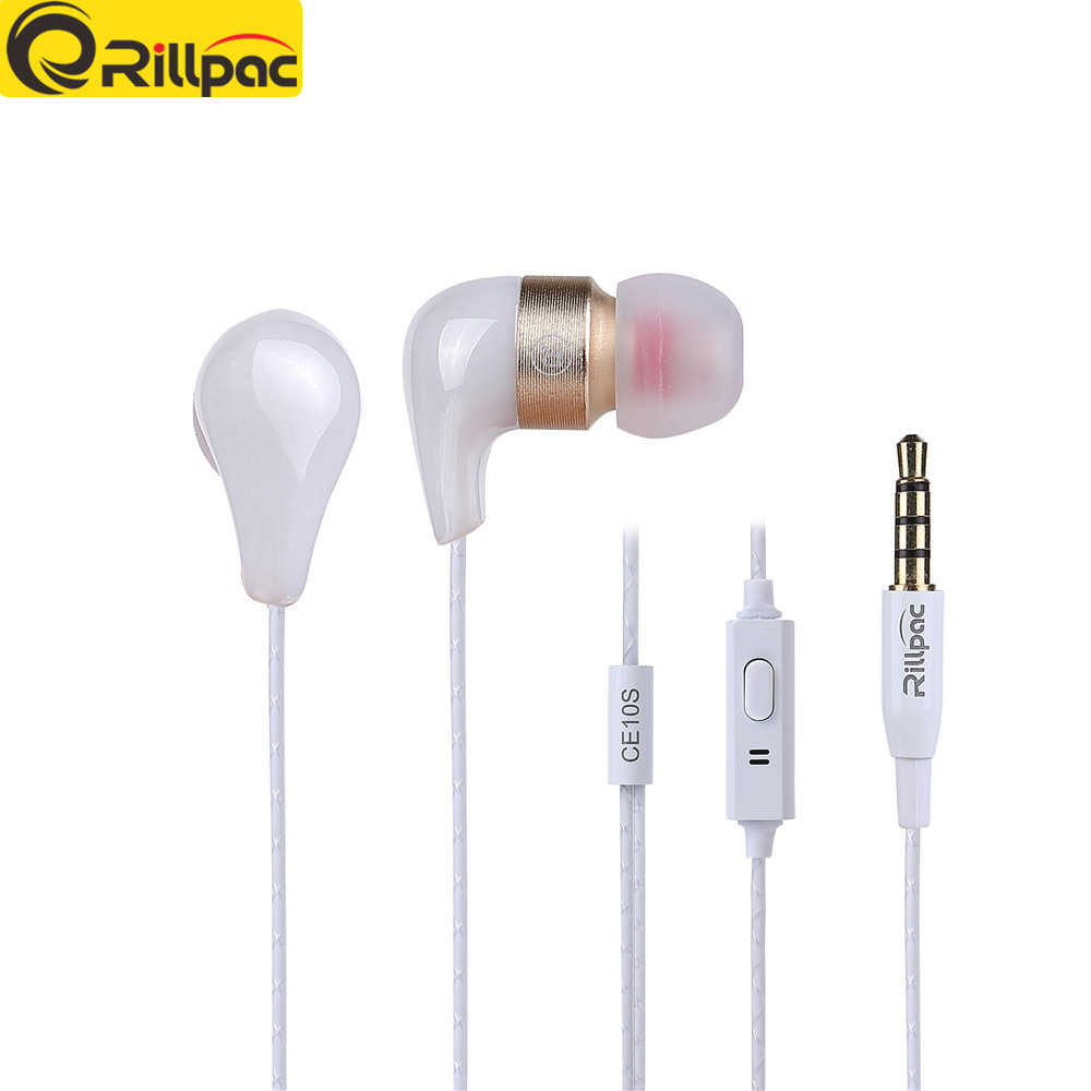Rillpac CE10S con microfono 3.5mm In ear Noise Isolating HD HiFi Auricolari auricolari super bass stereo per Smart phone