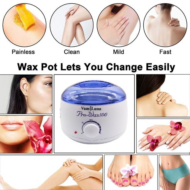 VamsLuna Tüy Dökücü Isıtıcı Wax Isıtıcı Pot Sağlık Için Parafin Isıtıcı Salon Spa Güzellik Ekipmanları Sert Şerit Ağda