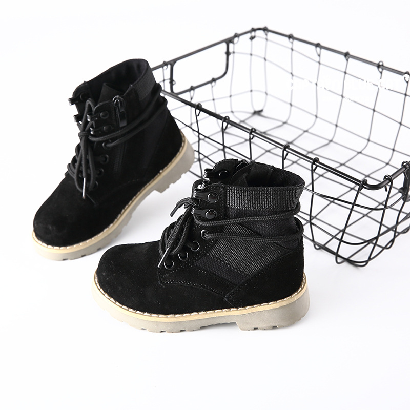 Children Winter Martin Boots Genuine Leather Girls Boys Short Boots Warm Toddler Baby Shoes Lace Up Casual Kids Snow Boots TX96 children snow boots kids boys girls cowhide boots fashion baby winter cow leather boots warm shoes 2017 free drop ship wholesale