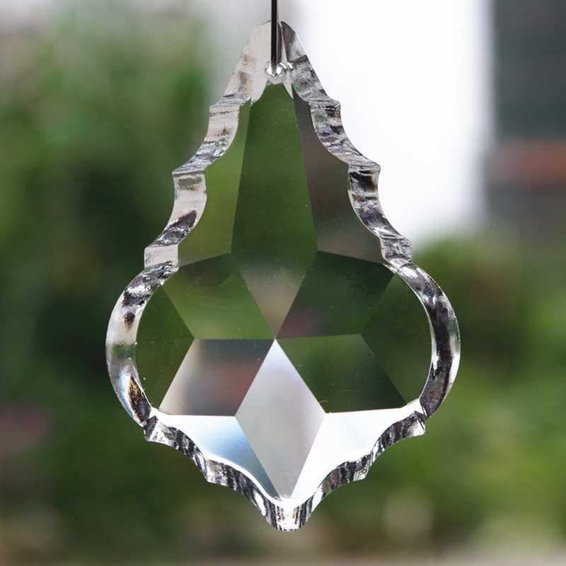 Membersihkan Tempat Lilin Kaca Lampu Kristal Prisma Bagian Tetes Gantung Liontin 38 Mm