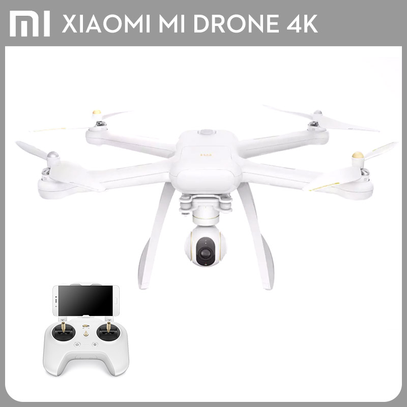Original Xiaomi Mi Drone WIFI FPV With 4K Camera 3-Axis Gimbal RC XIAOMI Quadcopter RTF genuine original xiaomi mi drone 4k version hd camera app rc fpv quadcopter camera drone spare parts main body accessories accs
