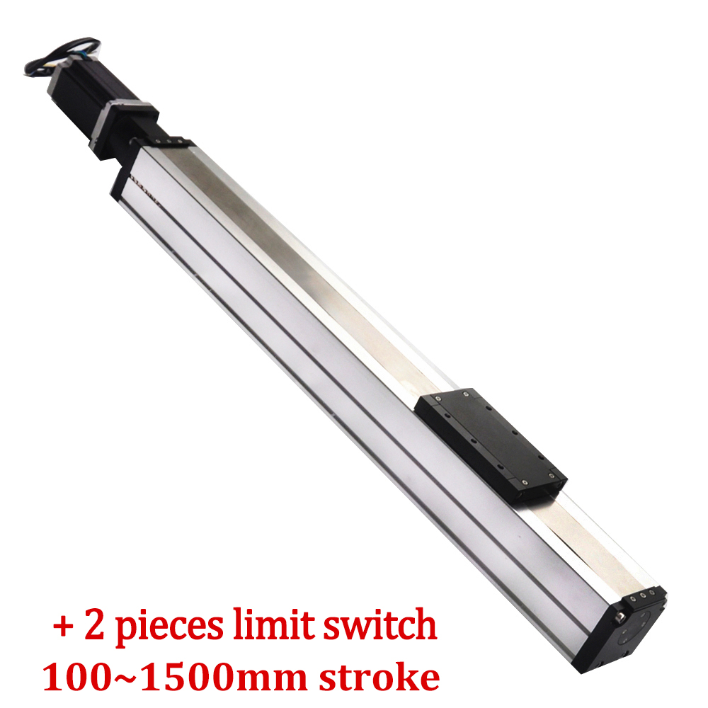 Free Shipping Customized 100mm~1500mm ball screw linear guide motion rail actuator module for horizontal & vertical movement цена 2017