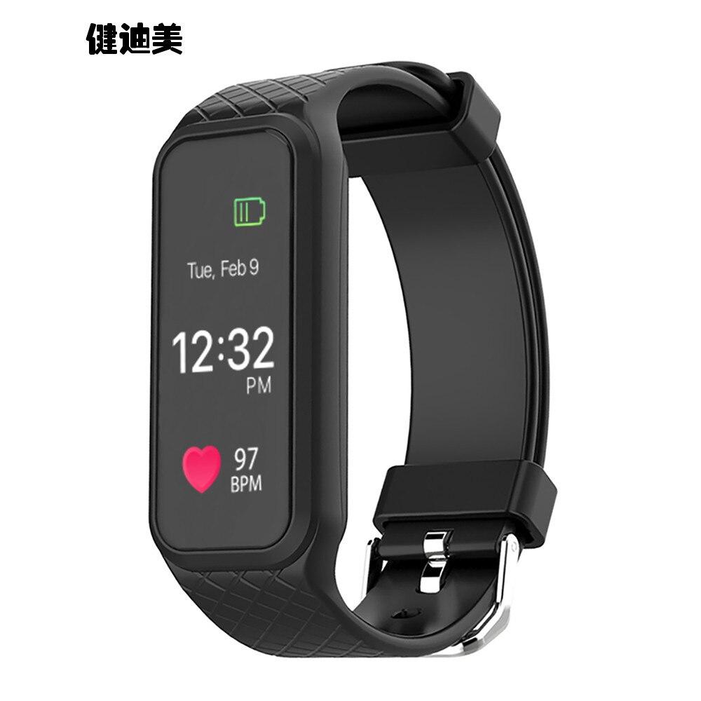 Smart Bracelet Watch Waterproof Remindme Heart Rate And Blood Pressure In Men And Women Sports Pedometer