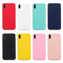XINGDUO Candy Color Case for iPhone 5 5s 6 6s 7 8 Plus Cover Soft TPU Silicon Cases Back Cover for iPhone X XS XR XS Max Case цена и фото