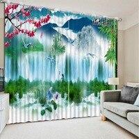 Фото настроить размер 3D шторы водопад декоративные домашнего декора спальни плотные шторы современные шторы для гостиной