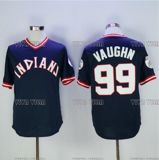 Indians Jersey 99 Rick Vaughn Baseball Jersey High Quality Throwback Black White S-3XL Free Shipping msk women s beaded shoulders cowl faux wrap jersey dress 12 black white