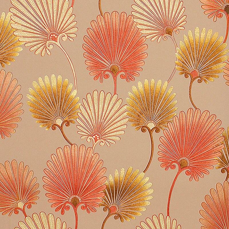 Pastorale Vintage Floral papier peint 3D romantique fleur chambre papier peint pour murs 3D Mural papier peint PVC papier peint or argent - 6