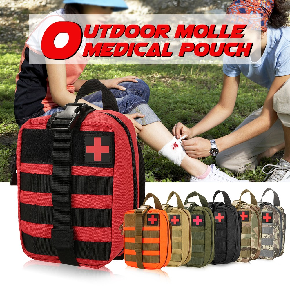 Outdoor MOLLE Medical Pouch First Aid Kit Utility Bag Emergency Survival First Responder Medic Bag