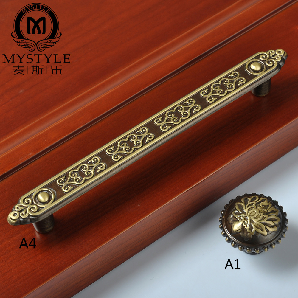 Chinese European antique copper door wardrobe door handle drawer handle copper Chinese cabinet drawer door handles