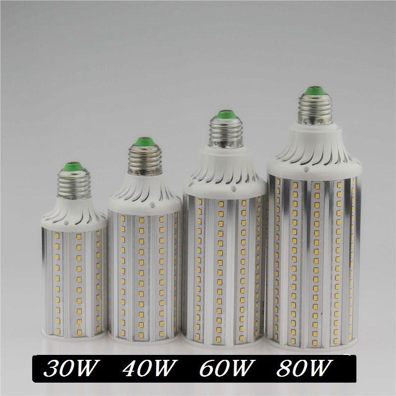 Super Bright 30W 40W 60W 80W LED Lamp E26E27 E40 85-265V Lampada Corn Bulbs Light Pendant Lighting Chandelier Ceiling Spot light