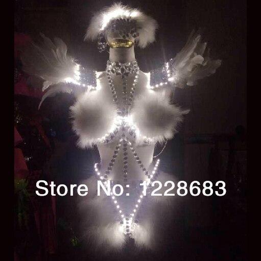Стразы кристаллы Перья привело крылья Балетные костюмы Лебединое озеро вела танцевальный костюм