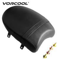 VORCOOL 1PC Universal Motorcycle PU Leather Cushion Pad Seat Backrest Pad For Yamaha Sportster Harley Motor Seat Cover Pad