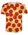 Пицца Футболки пота футболка ХИП-ХОП ЛЕТОМ СТИЛЬ 3D МУЖСКАЯ ПЕЧАТИ ЖЕНЩИНЫ МУЖЧИНЫ ЗАБАВНЫЙ ТИ ТОПЫ С КОРОТКИМ РУКАВОМ О-Образным Вырезом Футболки