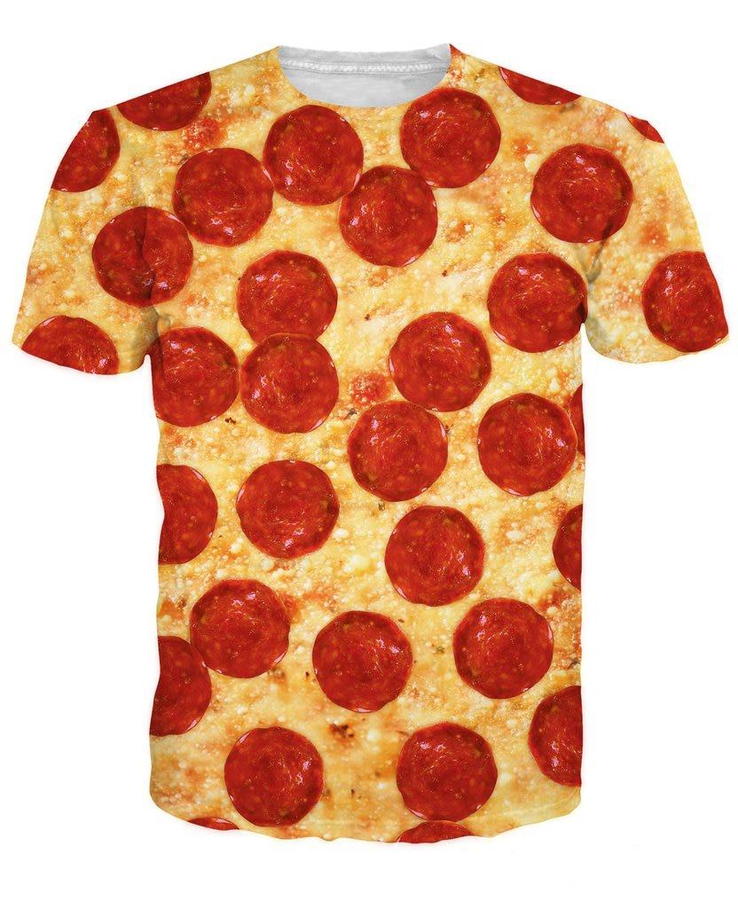 Pizza T-Shirt sweat t shirt HIP HOP SUMMER STYLE 3D UNISEX PRINT WOMEN MEN FUNNY TEE TOPS SHORT SLEEVE O-neck Tee Shirts