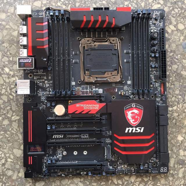 Used original for MSI X99S GAMING 9 ACK LGA2011 V3 DDR4 support  overclocking RAM CPU