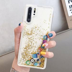 Image 5 - KISSCASE Glitter Liquid Silicone Case For Huawei P30 Pro P20 Lite Cover Case For Huawei P20Lite App Icon Phone Case Funda Para