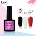 3 Pcs Gelartist 7.3ml Uv Gel Nail Gel Polish 128 color Brands China Gel Nail Polish Brands High Quality Polish Base and Top