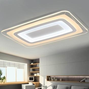 Rectangular & Square Acrylic LED Ceiling Lights Living room bedroom study restaurant aisle ceiling lamps Lighting fixture