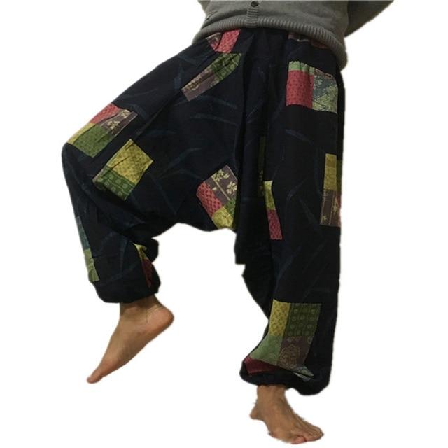 20 Print Thai Hip Hop Aladdin Hmong Baggy Cotton Linen Harem Pant Men Plus Size Wide Leg Trousers Boho Casual Pants Cross-pants 4
