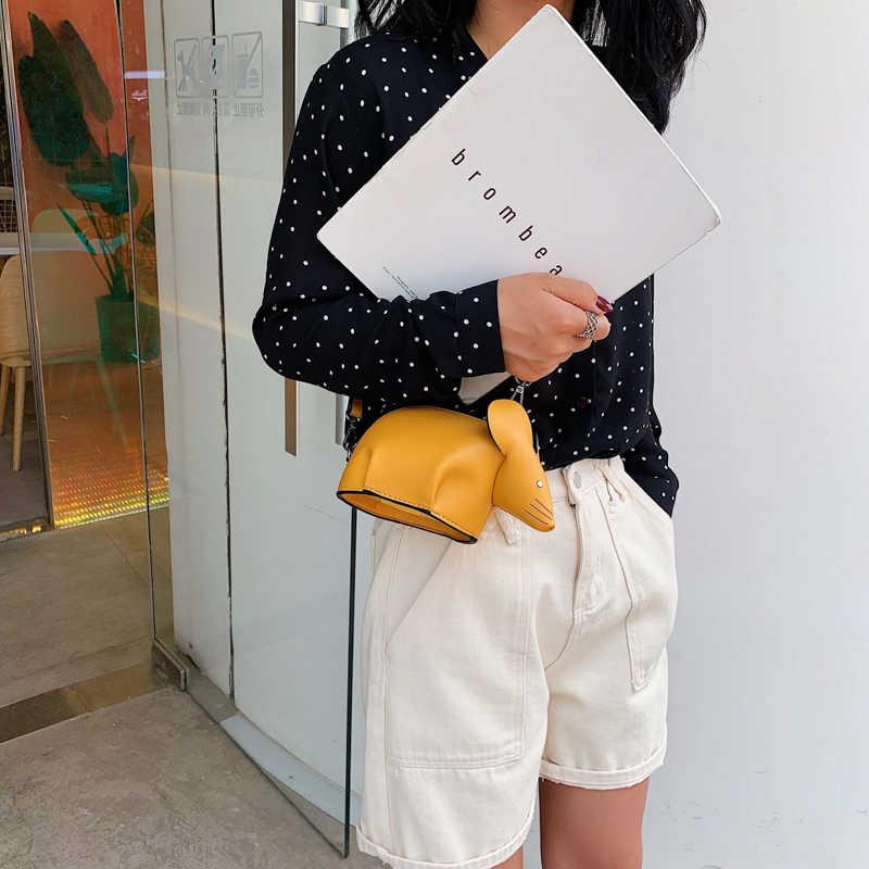 لطيف تصميم الماوس الموضة بو الجلود فتاة شابة حقيبة كتف حقيبة كروسبودي حقيبة صغيرة اليومية حقيبة صغيرة رفرف الإناث الحقيبة