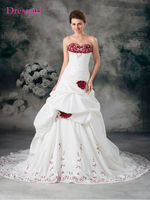 Luxueux Robe De Noiva 2017 Robes De Mariée robe de Bal Sweetheart Embrodiery Perlée En Turquie Boho De Mariage Robe De Mariée Robes