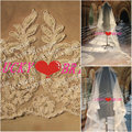 V87 Real Elegant Bridal Veil Tulle Lace 2.5 Meter Wedding Veil with Pearls Women Wedding Accessories  New Arrival
