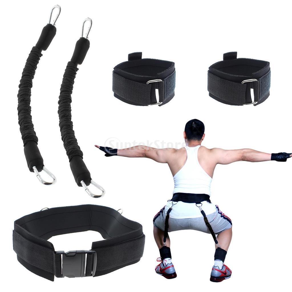 Resistance Band Fitness Bouncing Trainer Rope Basketball Tennis Running Jump Leg Strength Training Agility Pull Strap Equipment Punctual Timing Fitness Equipments
