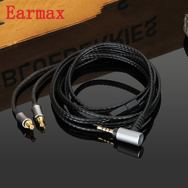Earmax A2DC Earphone Cable 3.5mm HiFi Audio Cable OCC Silver Plating Upgraded Wire Core For ATH LS50/70/200/300/400/E40/50/70
