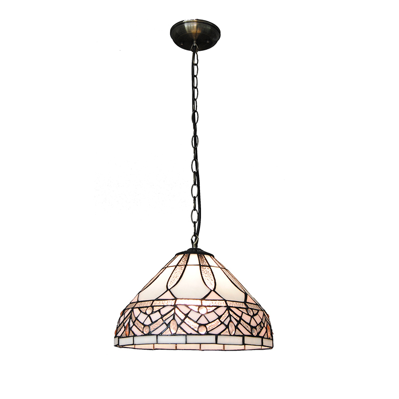 12 Vintage Tiffany Style Hanging Lights Modern Simple Stained Glass Pendant Lamp For Bar Cafe Restaurant Lighting Fixture PL719 12 inch simple european style modern restaurant droplight tiffany glass lighting mahjong table mediterranean balcony lamp