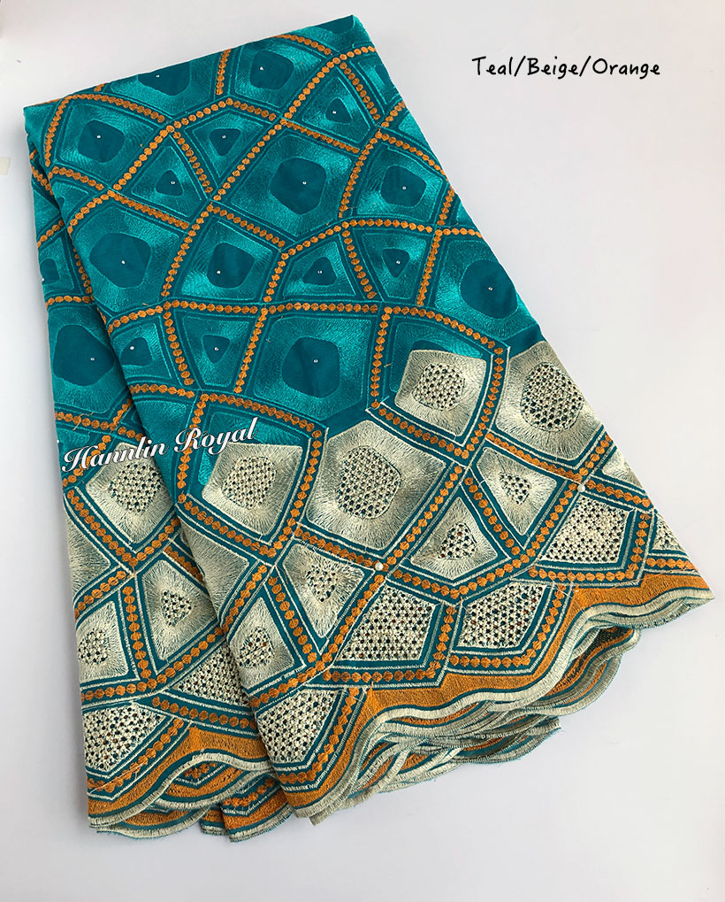 Soft cotton lace full embroidery African Swiss lace fabric Nigerian garment voile clothes high quality 5 yards per piece