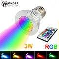 Levou holofotes rgb 16 cores E27 GU10 E14 GU5.3 AC86-265V MR16 DC12V RGB lâmpadas lâmpada de iluminação colorida + 24 teclas de controle remoto controlador