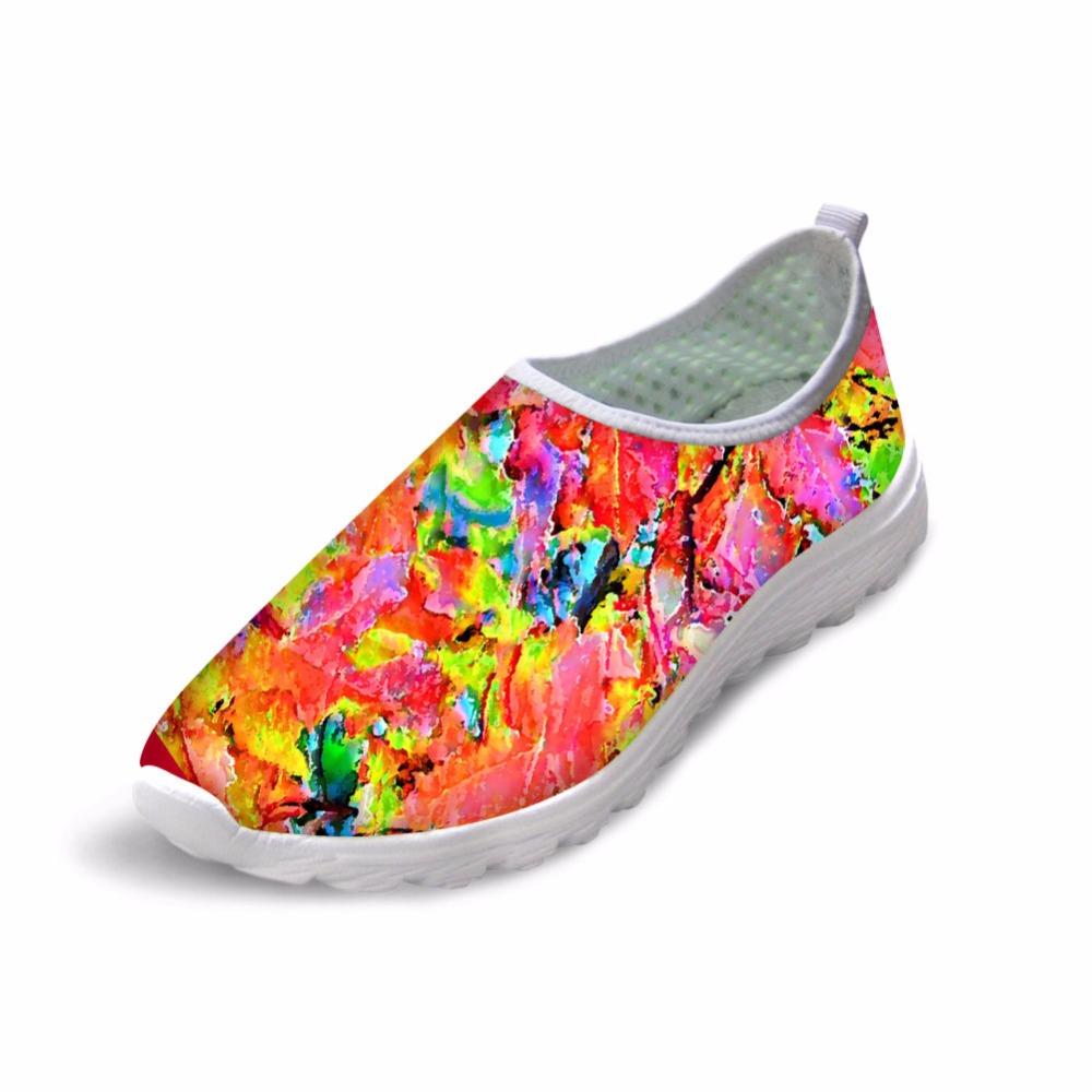 Noisydesigns lady summer shoes 3D print yellow shoes women mocasines mujer pink shoes women korean flats funny shoes low boots