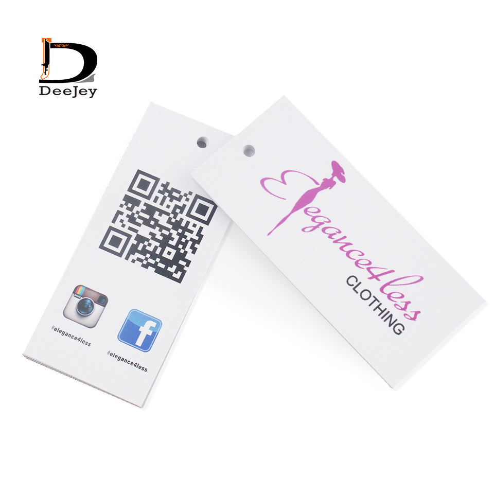 Custom clothing hang tag 300gsm paperboard garment swing hanging tag hair extension tags 1000pcs lot