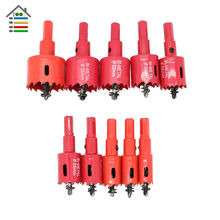 10PC 16mm-40mm BI-Metal M42 HSS Core Drill Bit Set Metal Drilling Hole Saw Cutter for Aluminum Plastic Iron Steel Wood