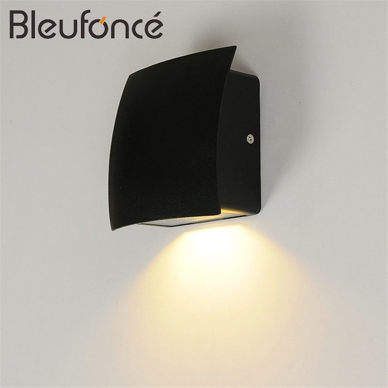 Outdoor Waterproof Wall Lamp indoor Light LED Wall Sconce Modern Simple Courtyard Lamp Home Decoration 5W LED Wall lamps BL80 free shipping led crystal wall lamps wall sconce modern led crystal lamp light with 2l home indoor outdoor lighting decoration