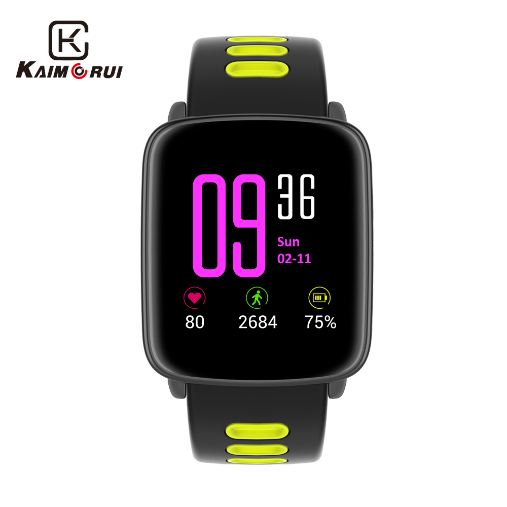 GV68 Smart Watch Waterproof Ip68 Heart Rate Monitor Bluetooth Smartwatch Swimming with Replaceable Straps for IOS Android Phone