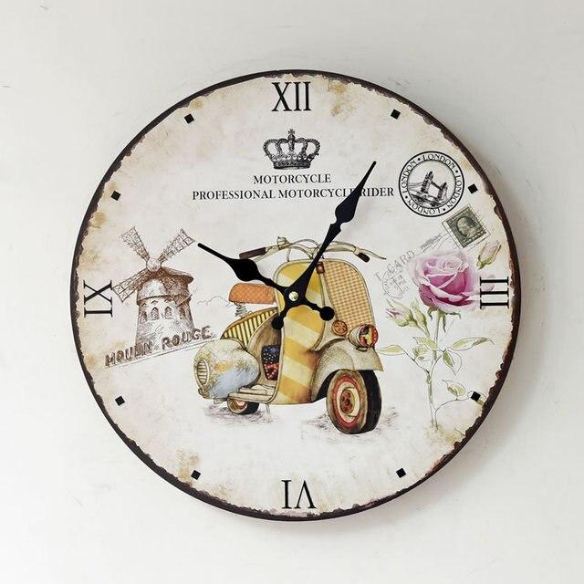 Eropa Retro Signle Wajah Kayu Bulat Menggantung Jenis Jarum Kuarsa Jam  Dinding Jam Untuk Dekorasi Rumah 2da1f35951