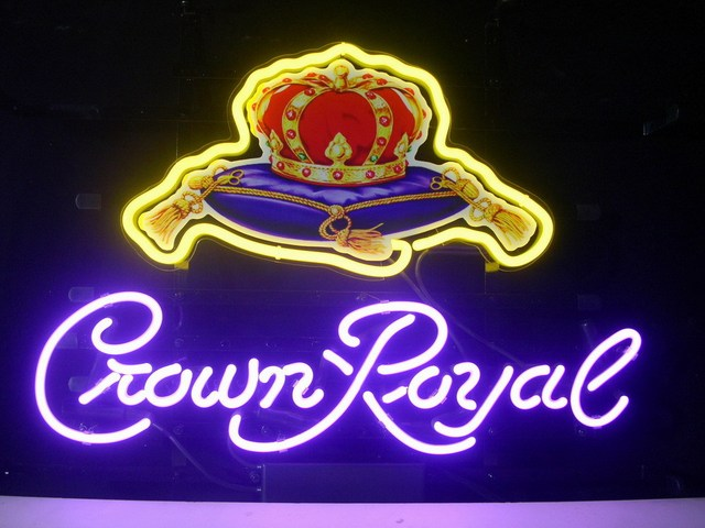 New Crown Royal Whiskey Real Glass Neon Light Sign Pub Club Home Display Beer Bar Sign L46