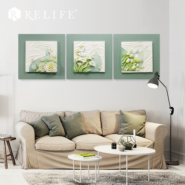 Handgeschilderd Hars Lelie en Rose Home Decor Wanddecoratie ...
