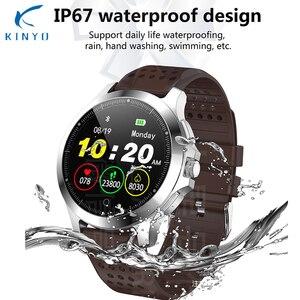 Image 4 - ЭКГ PPG смарт браслет артериальное давление пульсометр IP67 водонепроницаемые Смарт часы Шагомер трекер сна фитнес трекер спортивный браслет