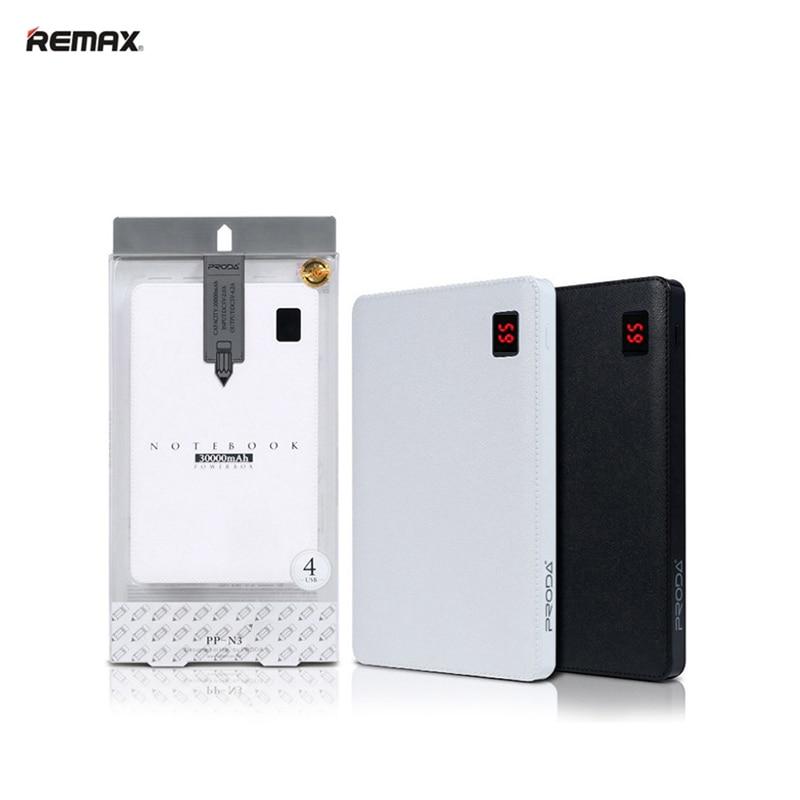 Remax Portable Powerbank 30000 mAh 4 USB Batterie Externe Chargeur Portable 30000 mah Puissance Banque Pour Xiaomi Téléphone Tablet Poverbank