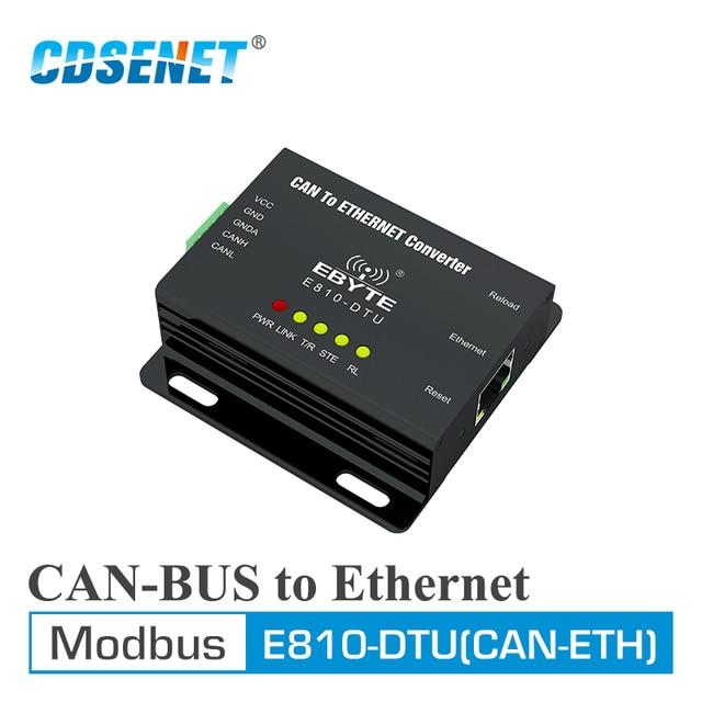 E810 DTU(CAN ETH) CAN Bus Ethernet Прозрачная передача Modbus протокальный последовательный порт беспроводной трансивер модем