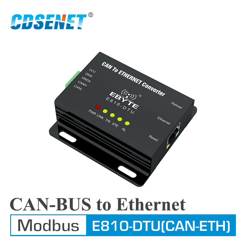 E810-DTU(CAN-ETH) CAN Bus Ethernet Transparent Transmission Modbus Protocal Serial Port Wireless Transceiver Modem