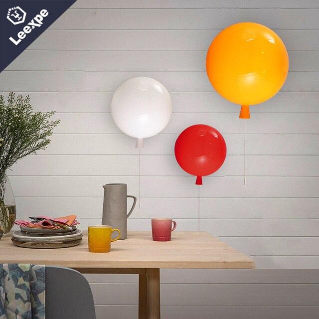 Neuheit Bunte Ballon Led Wandleuchte Nordeuropa Einfache Acryl Wandleuchte  Kinderzimmer Bunte Festival Ballon Wandleuchte