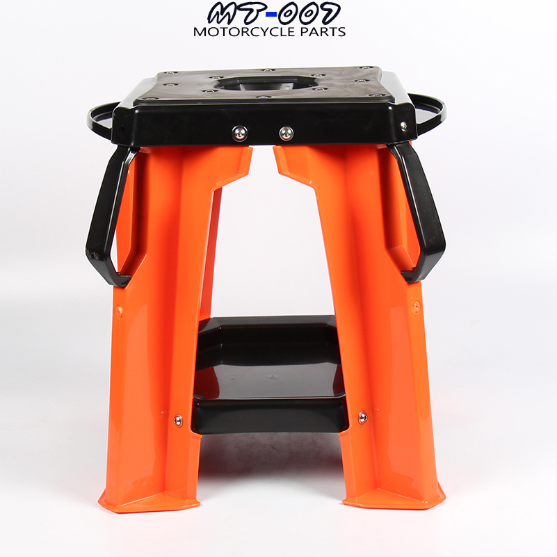 Orange 2017 New Motorcycle Repair Lift Stand Stool Seat For KTM Honda Yamaha Suzuki Kawasaki MX sse un001 sv new universal motorcycle kickstand kick side stand enlarger plate pad for honda yamaha suzuki kawasaki bmw ktm