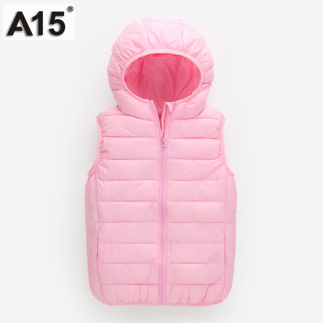 2a16d34ebd7a A15 Kids Vest Jackets Boys Light Duck Down Jacket for Girls Coat ...