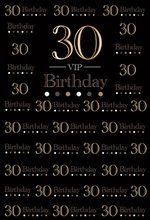 Laeacco 30th 50th Birthday Photography Black Backgrounds VIP Light Spots Portrait Scenic Photographic Backdrops For Photo Studio