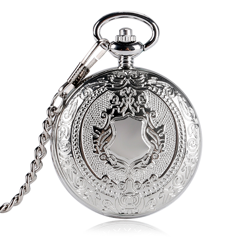 COCOTINA New Arrival Silver Smooth Quartz Pocket Watch With Short Chain Best Gift To Men Women LSB01144 fashion classic smooth vintage black steel women mens arabic numbers fob pocket watch with short chain best gift to men women